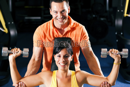 trainer, and, woman, in, gym - 3079591