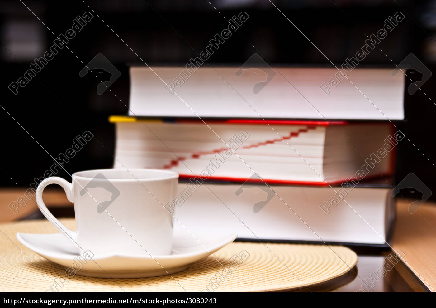 cup, of, coffee, and, opened, books - 3080243