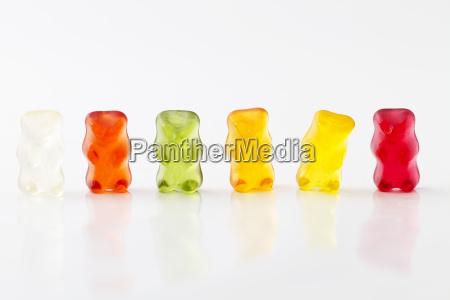 colored gummibaerenreihe
