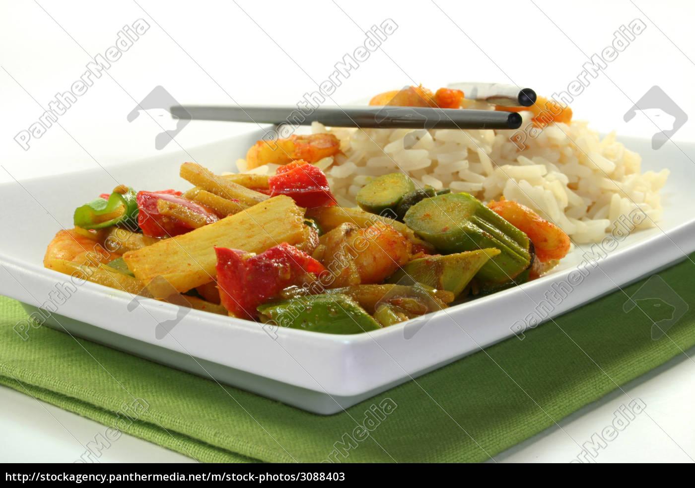 rice, with, asian, shrimp - 3088403