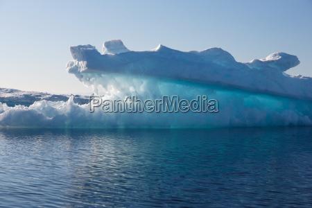 luminescent iceberg in greenland