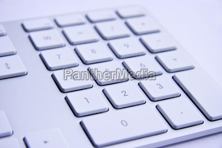 keyboard on white background
