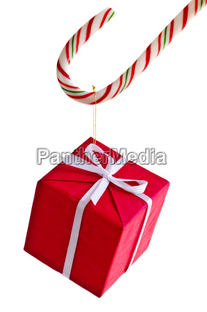 present, cane, gift, candy, box, christmas - 3099609