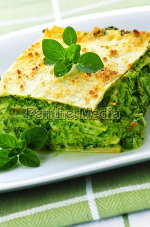 plate, of, vegetarian, lasagna - 3104281