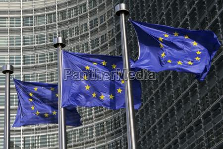 european, flags, in, brussels - 3105925