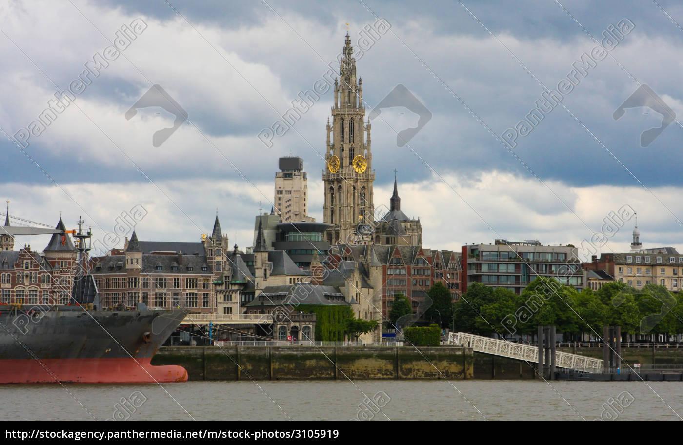 skyline, of, antwerp, , belgium - 3105919