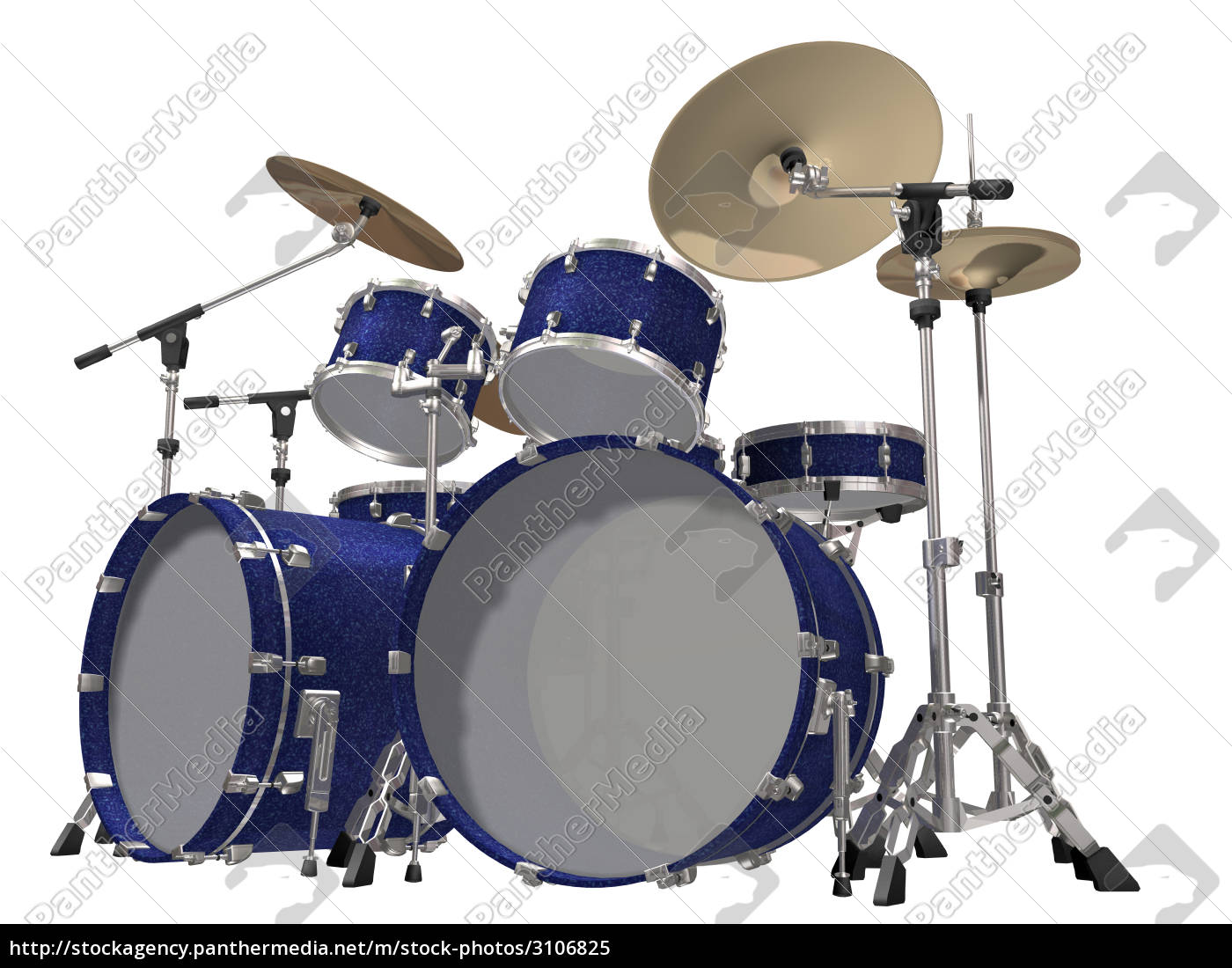 drum, kit, isolated, on, a, white - 3106825