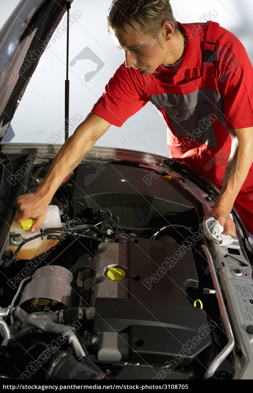 car, mechanic, checking, cooling, water - 3108705