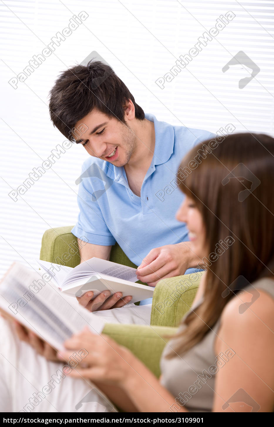 student, -, two, teenager, reading, book - 3109901