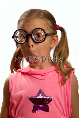 girl, wearing, big, glasses - 3110081