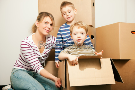 family is moving into their new