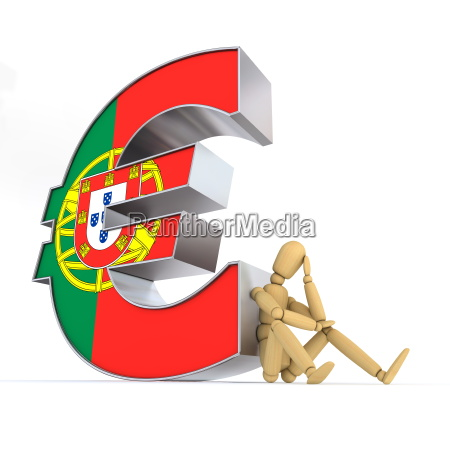 doll, sitting, at, portuguese, euro, sign - 3114357