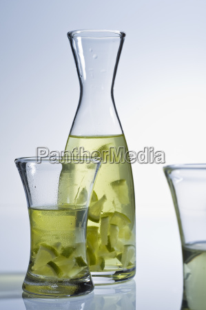 glass, carafe, with, tea, and, lime - 3115763
