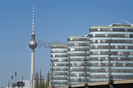 trias tower with television tower berlin