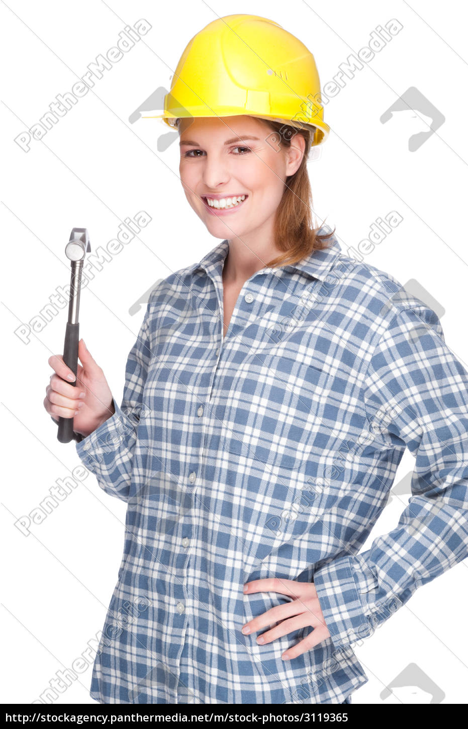woman, with, hammer - 3119365