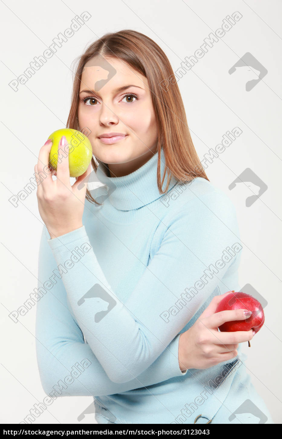 woman, with, red, grapes - 3123043