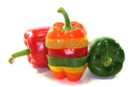layers of colorful peppers