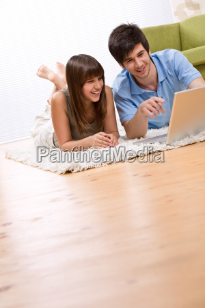 student, -, two, teenager, with, laptop - 3129045