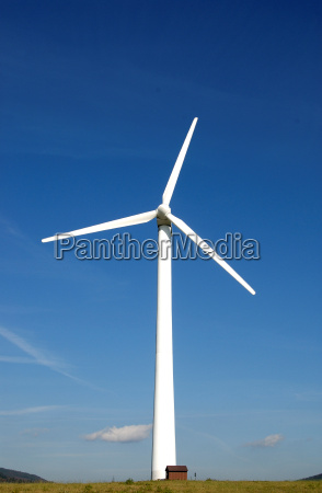 wind power plant with a small