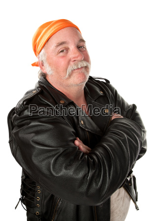 obese, gang, member, on, white, background - 3132049