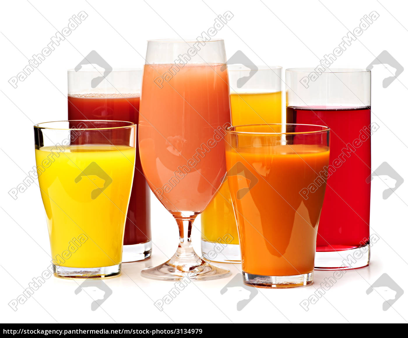 glasses, of, various, juices - 3134979