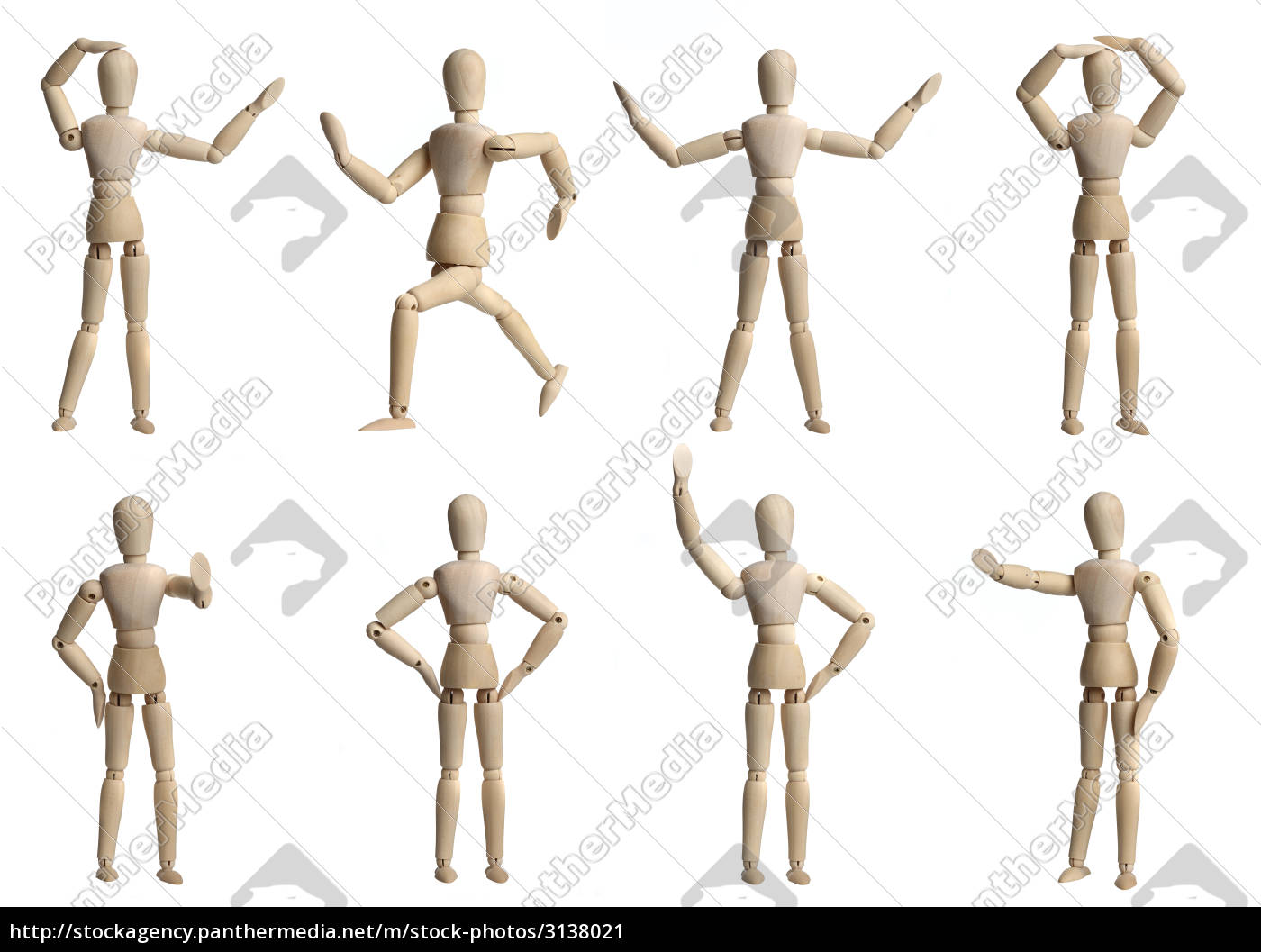 collection, of, wooden, mannequins - 3138021