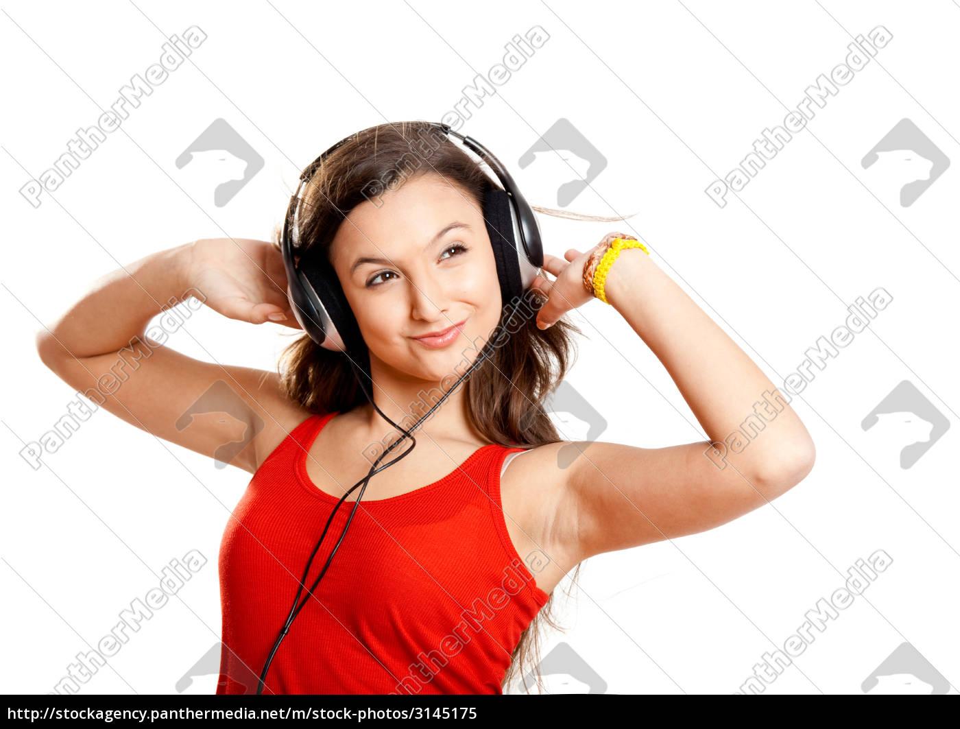 young, girl, listen, music - 3145175