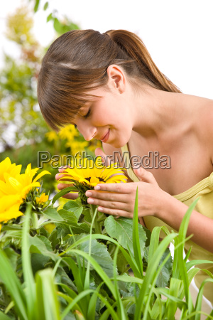 gardening, -, portrait, of, woman, with - 3146149