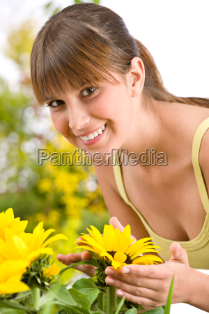 gardening, -, portrait, of, woman, with - 3146271
