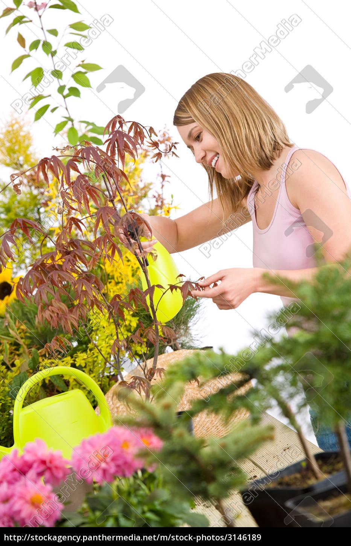 gardening, -, woman, sprinkling, water, to - 3146189