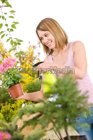 gardening, -, woman, sprinkling, water, to - 3146197
