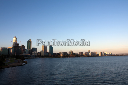 perth skyline at sunset