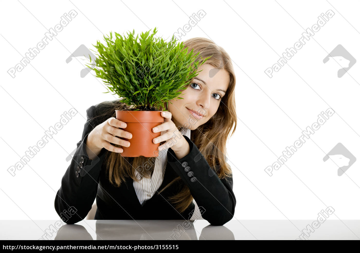 business, woman, holding, a, vase, with - 3155515