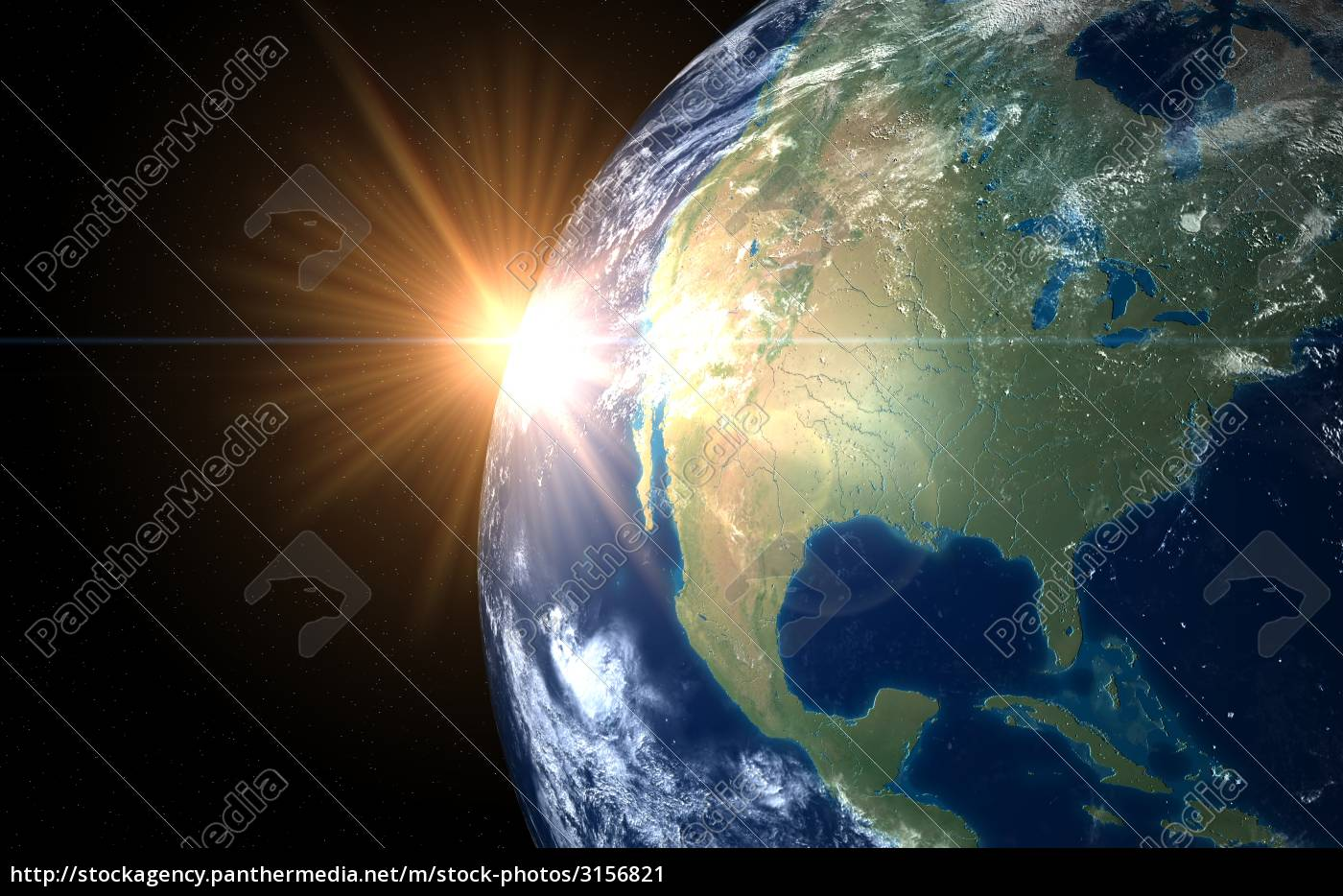 earth, and, sun., space, sunrise, america - 3156821