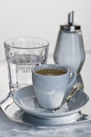 espresso in white cup