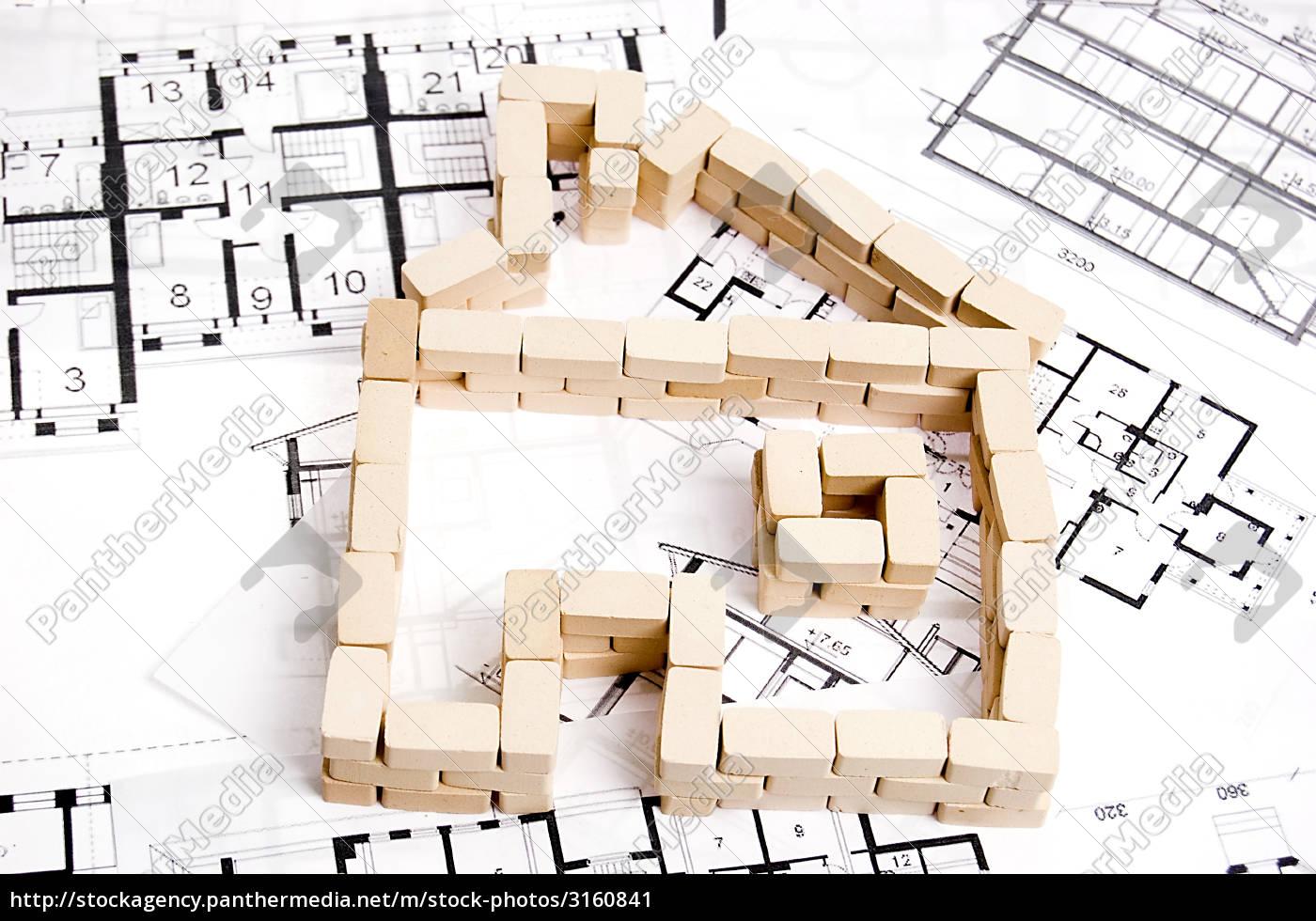 house, over, blueprint - 3160841