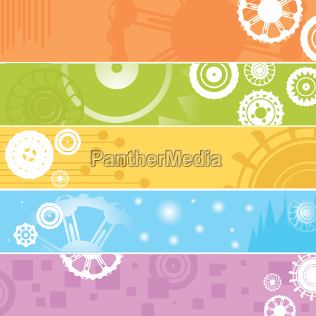 , web, banners, , gears - 3170903