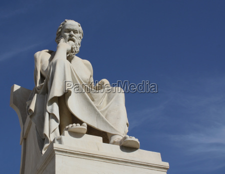 statue of socrates with copy space