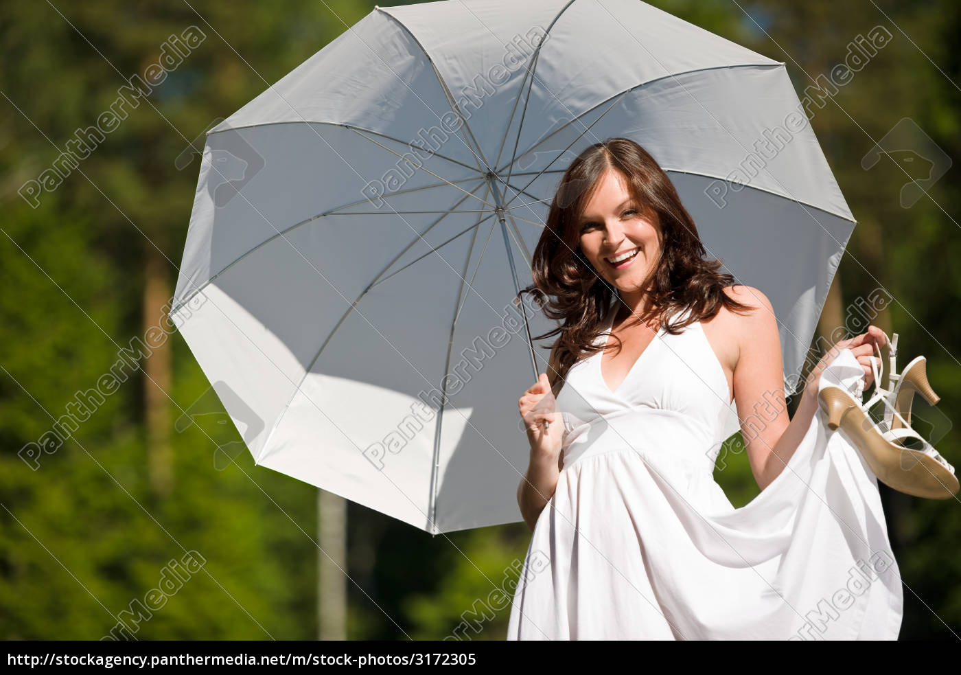happy, romantic, woman, with, parasol, in - 3172305