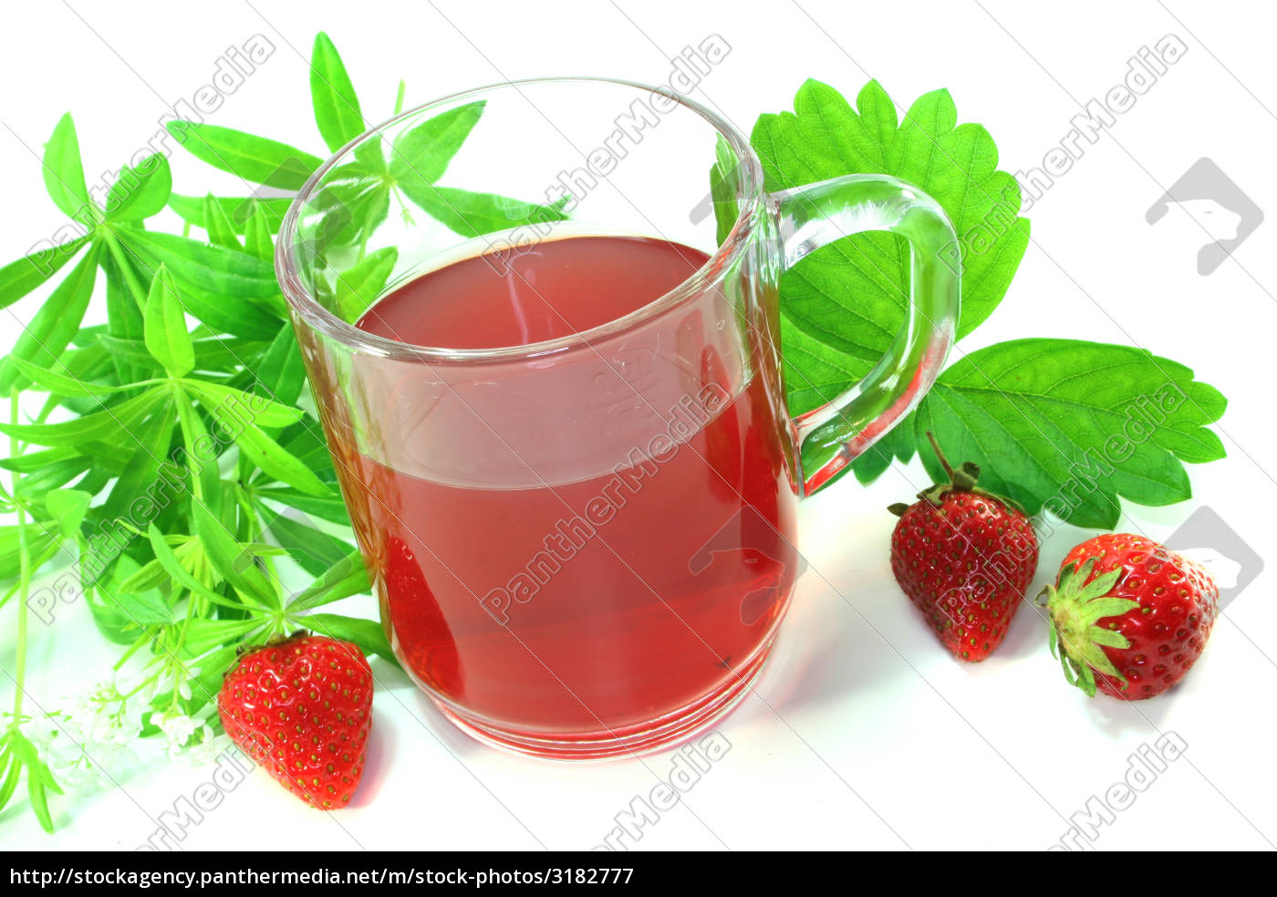 strawberry, woodruff, tea - 3182777
