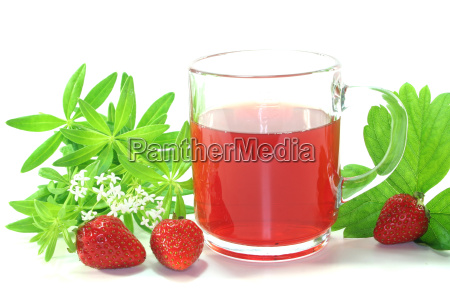 strawberry, woodruff, tea - 3182781