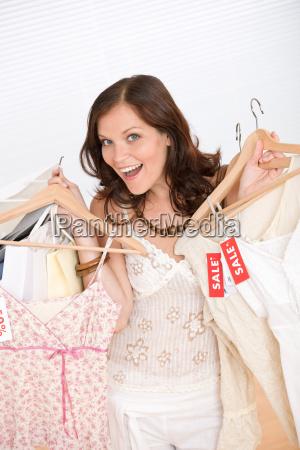 fashion shopping happy woman choose
