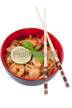 asian noodle soup in front of