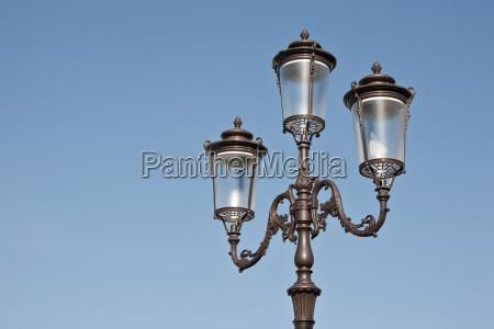 street lamp in nostalgic look