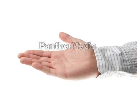 young, hand, in, business, shirt, holding - 3201203