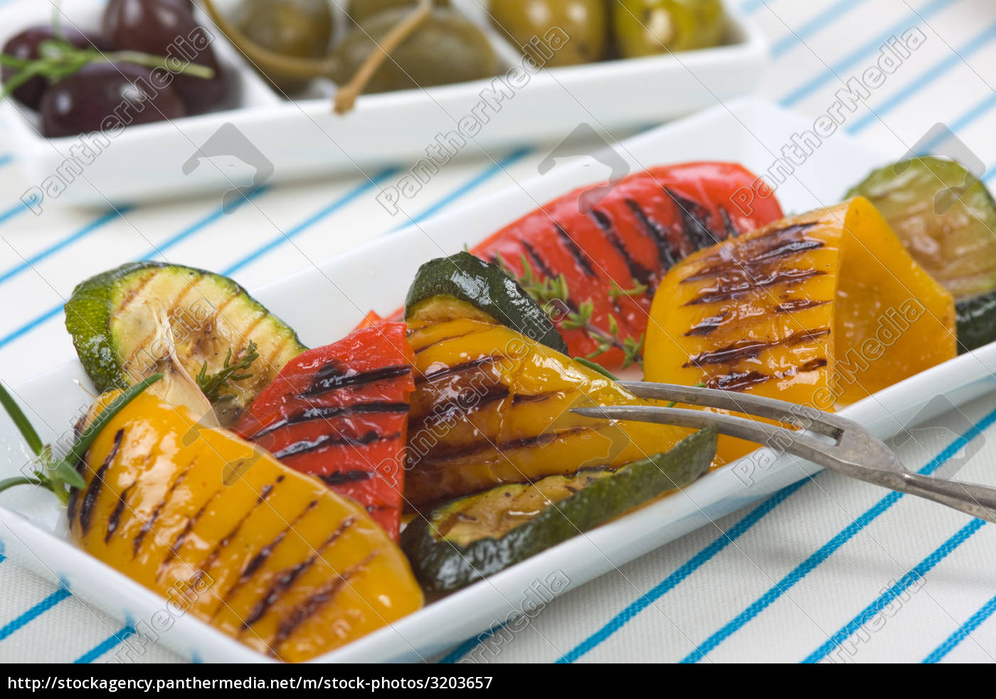 grill, peppers, with, olives - 3203657