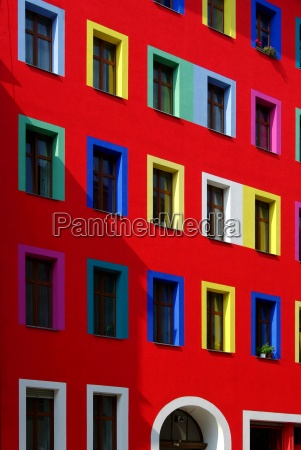 colorful window of a house in