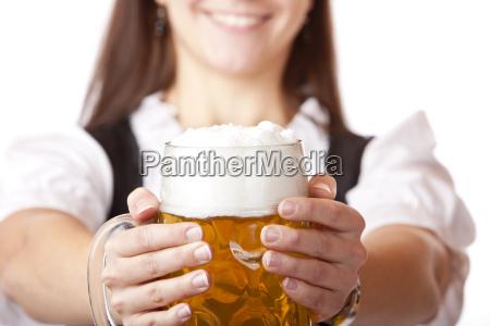 oktoberfest beer stein with beer
