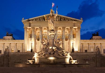 ö, sterreichisches, parliament, night - 3224411