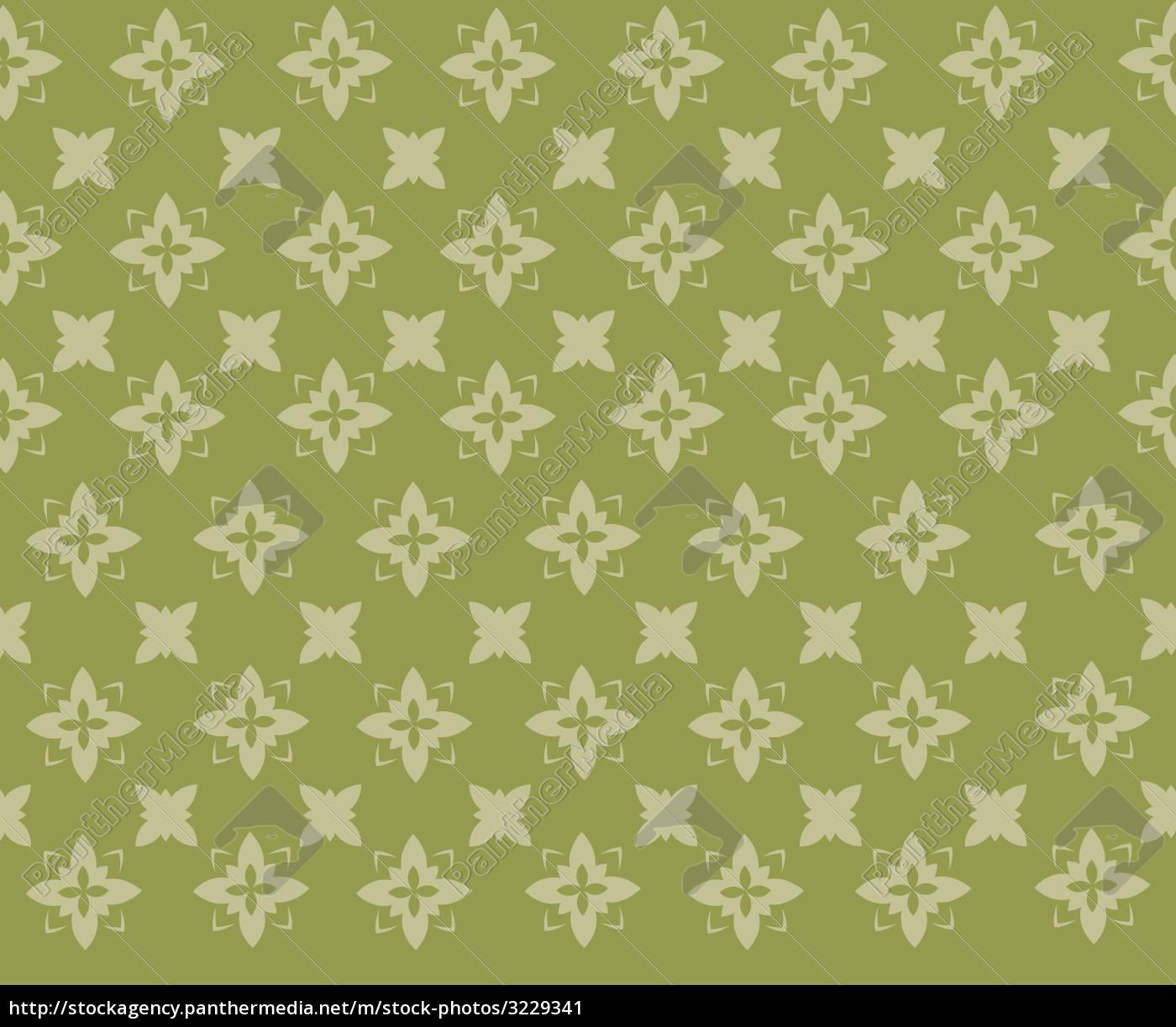 green, semless, fancy, pattern - 3229341